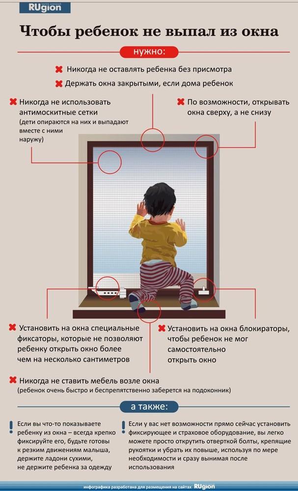Ребенок в комнате – закрой окно!